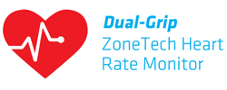 Dual-Grip ZoneTech Heart Rate Monitor