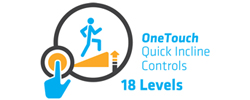 OneTouch Quick Incline Controls